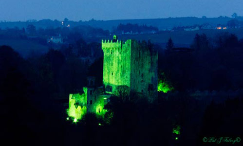 Blarney Castle turns green for St. Patrick's Day