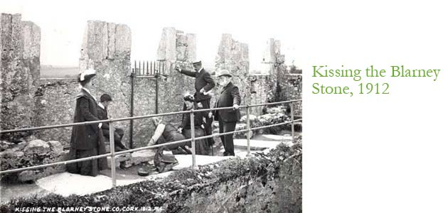 Kissing the Blarney Stone, 1912